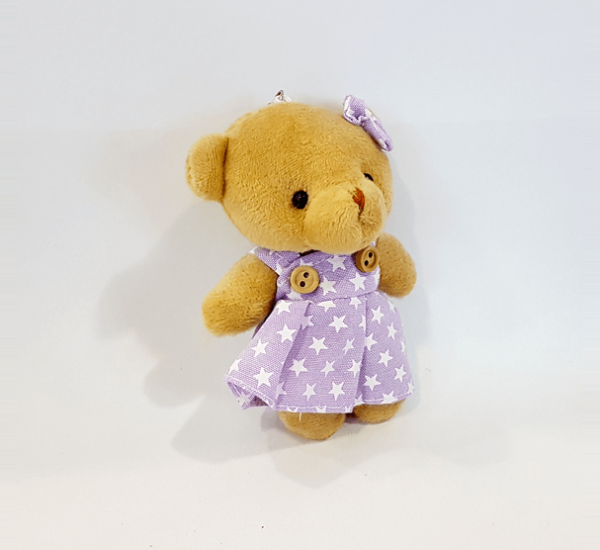 pembe elbiseli kız ayıcık